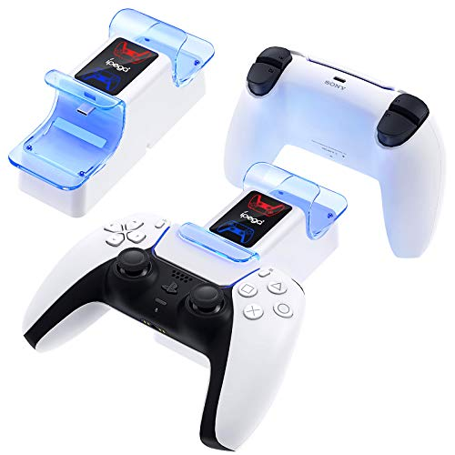 Ladegerät für PS5 Controller, Dual USB Controller Ladestation mit Kabelmanagement Design für Sony Playstation 5