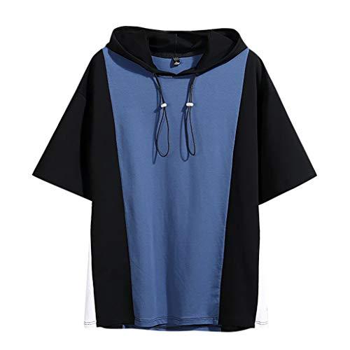 Yowablo - Yoga-Achselshirts für Herren in Blau, Größe XXL