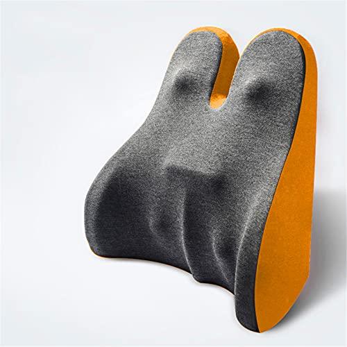 BBZZ Cuscino di Supporto Lombare, Sedia in Schiuma di Memoria Posteriore, Schienale Ortopedico ergonomico, può alleviare Il Mal di Schiena,Giallo