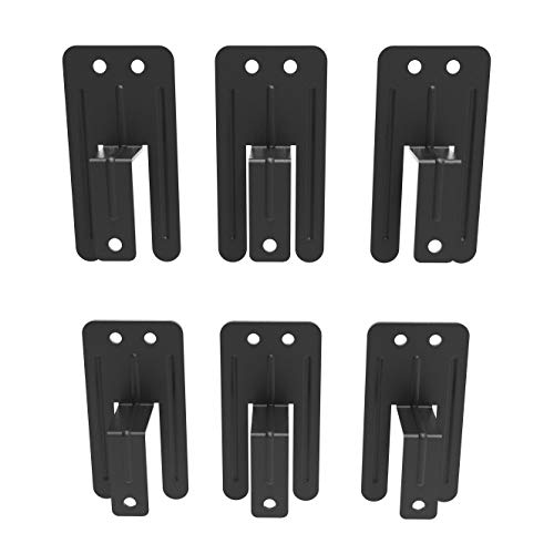 Anti-Slip Metal Gasket for Bed, Prevent Mattress from Sliding Off Bed Frame, 6 Pieces, 0.98 inch Wide, Black