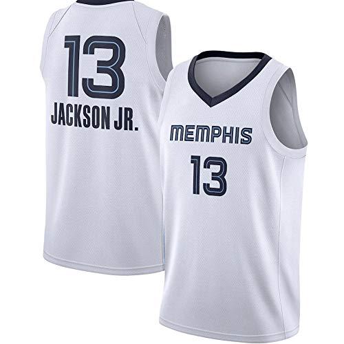 WSWZ Camisetas De Baloncesto De La NBA para Hombre - Grizzlies NBA 13# Camisetas De Jaren Jackson Jr - Camiseta Unisex Cómoda De Baloncesto con Chaleco Deportivo,XXL(185~190CM/95~110KG)