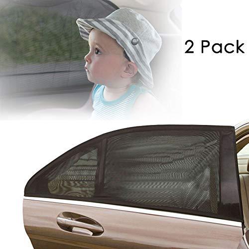 AODOOR Sonnenschutz Auto für Kinder, Auto Sonnenschutz Baby Universal, Autoseitenfenster Sonnenschutz Blockt mehr als 97{03ca4f88f0235d56f2dba5c0c9a0f8b2faabc83c1efdf4bfd382baa71a7d57f0} der schädlichen UV-Strahlung und Mücken, Schutz von Familie und Haustieren - 2 PCS