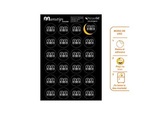 Aimants souples pour photo et travaux manuels : manutips circulaire 40 mm Diamètre. (24 unités)
