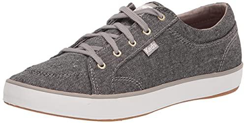 Keds womens Center Slub Sneaker, Grey, 6 US