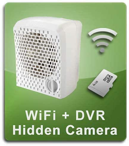 PalmVID WiFi Air Cleaner Hidden Camera Spy Camera with Live Video Viewing and Infrared Night Vision