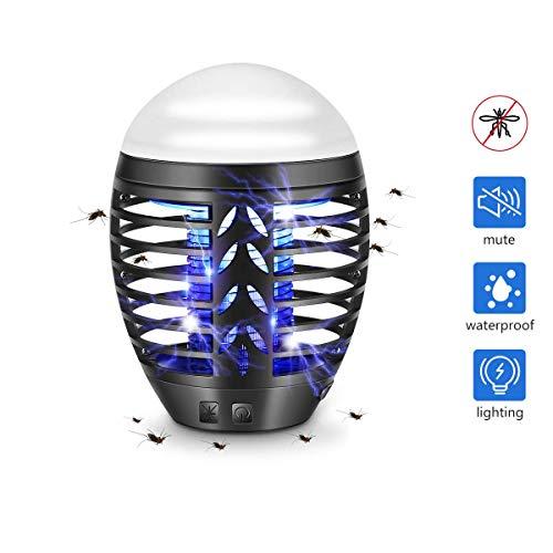 TDW Lampada Antizanzare Elettrica da Esterno, Repellente per Zanzare da Campeggio, Lampada da Esterno Portatile con Zanzara 2 in 1 Lampada a LED
