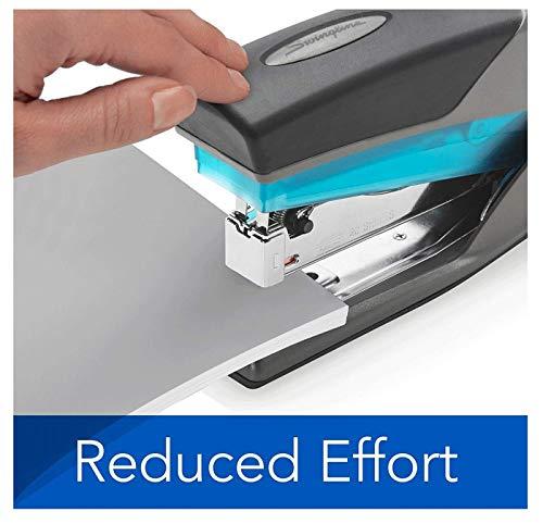 Swingline Stapler, Optima 25, Full Size Desktop Stapler, 25 Sheet Capacity, Reduced Effort, Blue/Gray (66404) - SWI66404 (3-Pack) Photo #2