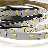 ROLLO de 5 metros de Tira de led 18w/metro a 24v. IP20. Color Blanco Neutro (4500K). Cinta strip Diodo 5630. 60 led/metro. 4800 Lumenes. 5000 * 10mm.