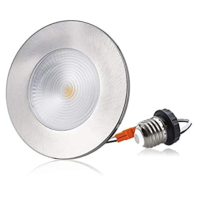 LED Recessed Lighting, 2 in 1 Trim Color Options, Tunable Warm White, 12W Dimmable LED Recessed Downlights