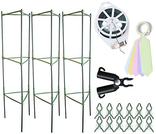 Grow Your Pantry Tomato Cages from 3 Pack of Strong and Durable Plant Cages...