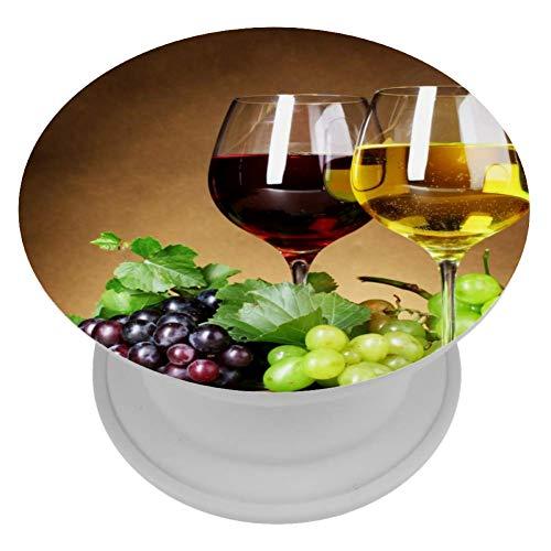 LORVIES Druiven Wijn En Champagne Mount Houder Uitbreiding Telefoon Popper Grip en Stand Hand Houder Knop voor Cellphone,1 PCS