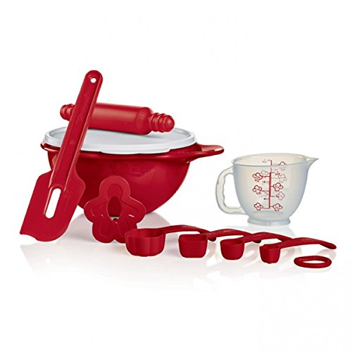 Tupperware My First Baking Set in Holiday Red