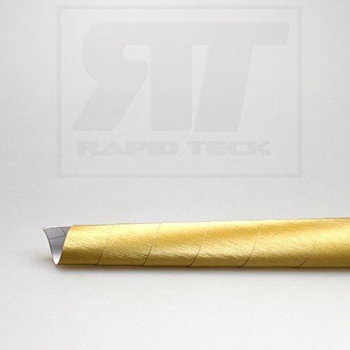 TipTopCarbon 8,55€/m² Autofolie 3D Aluminium gebürstet Gold Alu 152cm breit BLASENFREI mit Luftkanäle 3D Flex Folie Auto Folie selbstklebend