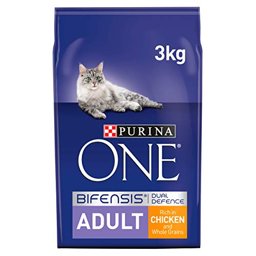 Purina ONE Coat and Hairball Dry Cat Food, Chicken, 3kg