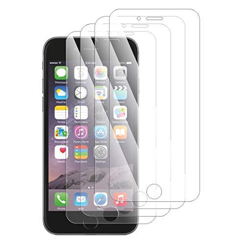 KARYLAX - Protector de pantalla de vidrio templado Nano flexible irrompible, dureza 9H, ultrafino 0,2 mm y 100% transparente para Apple iPhone 6 Plus (Pack de 4)