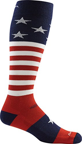 Darn Tough Captain America Ultra Light Socks - Men's Stars & Stripes Large