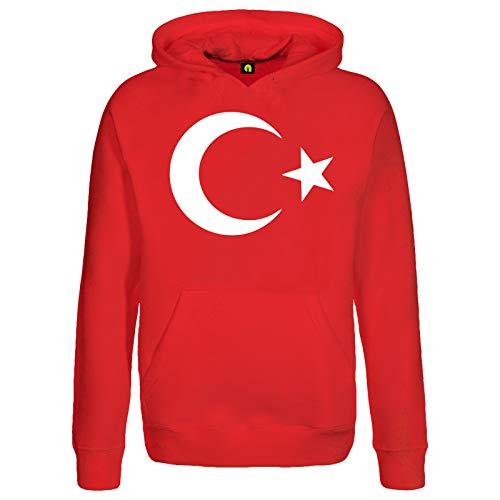 absenda Türkei Kapuzenpullover | Hoodie | Erdogan | Türkiye | Istanbul | Bayrak | Hilal Rot S