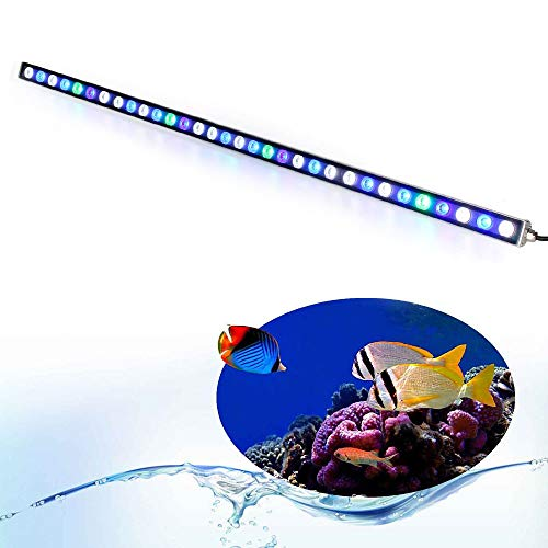 Roleadro Aquario Led Luci Bar 108W Illuminazione Lampada per Pesci e Barriera Con Verde Blu e UV Led Impermeabile IP65 115CM