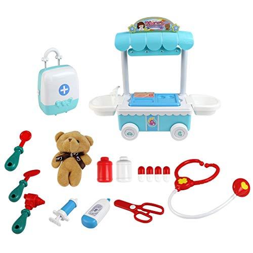 Babypuppen Reborn Baby Puppe Kinder Arzt Kit mit elektronisch sprechenden Puppe Medizinzubehör Spielset Pretend