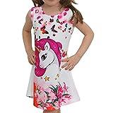 Minilady Unicornio niña niña verano vestido con diseño de unicornio caballo París...