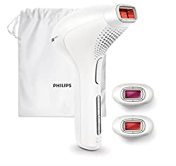 Philips Lumea Prestige Plus IPL Hair Removal Device SC2009 - Light-based hair removal for permanently smooth skin - Includes 3 Face, Body & Bikini Zone Tips - Wireless