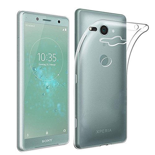 QULLOO Sony Xperia XZ2 Compact Coque Etui Silicone Gel Case Arrière Intégral Full Protection Cover Transparent TPU Housse Anti-Rayures pour Sony Xperia XZ2 Compact