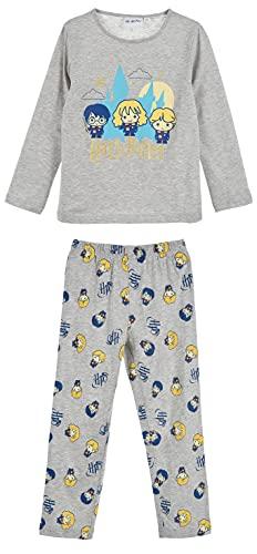 HARRY POTTER Niñas Pijama Largo (Gris,6 años)