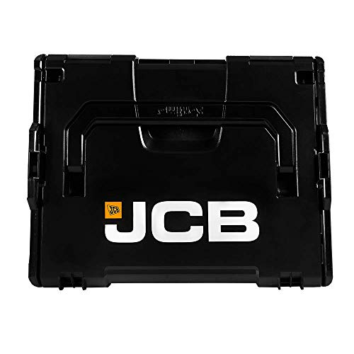 JCB L-BOXX 136 - Juego de 2 unidades apilables - Sistema de clic conectado - Resistente a los impactos - 13,3 litros - Caja de herramientas y accesorios resistente - Duradera - Soporta cargas extremas