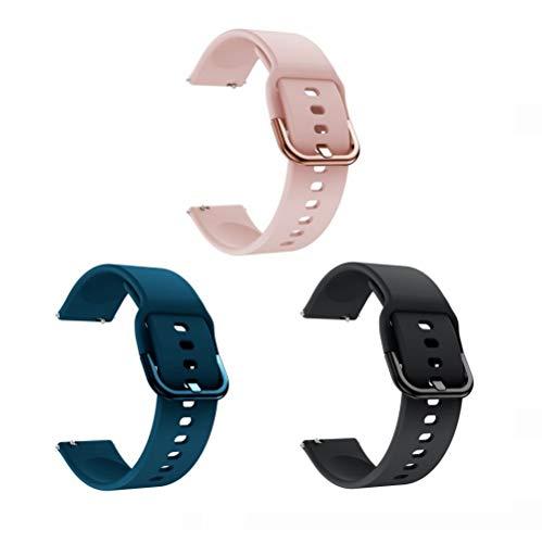 Cinturino universale 20mm, cinturini per orologi in silicone morbido Cinturini di ricambio regolabili a sgancio rapido per uomo e donna (grigio)