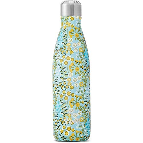 S'well Stainless Steel Water Bottle - 17 Fl Oz - Primula Blossom - Triple-Layered Vacuum-Insulated Containers Keeps Drinks Cold for 36 Hours and Hot for 18 - BPA-Free - Perfect for the Go