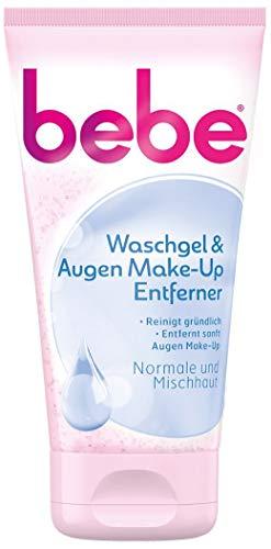 bebe Waschgel & Augen Make-Up Entferner - Sanfte Gesichtsreinigung für Normale bis Mischhaut - 1 x 150ml