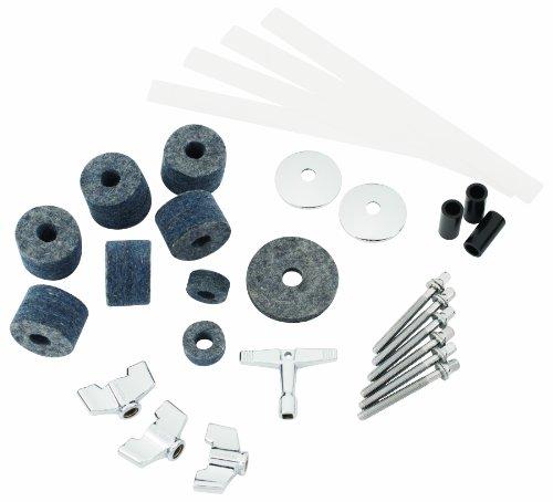 Gibraltar Accesorios Bateria - Kit para tecnicos de bateria - Manguito basculante para platillos, fieltros, llave de tambor con forma de manivela, tira de nylon de caja - SC-DSTK