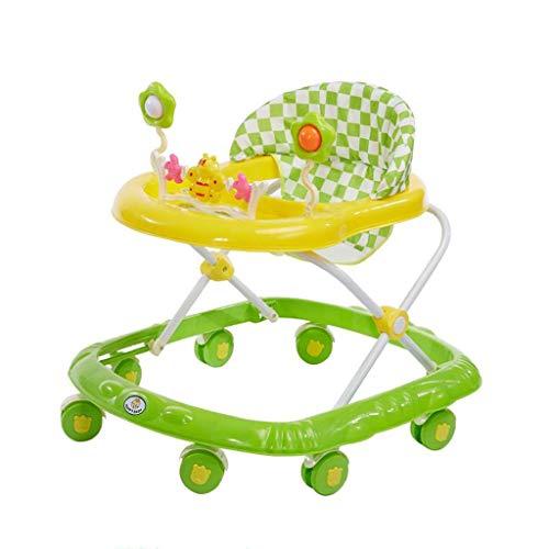 ZHUZEwei Automobilina for Bambini 6/7-18 Mesi Scooter Multifunzione Antiribaltamento con Macchinina Musicale (Color : Green)