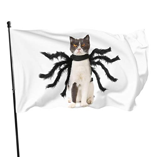 JIYUN This is My Scary Cat Costume Garden Flags Election Banner for American Flag Decoration Banner Flag 3x5 46 Feet