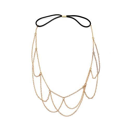 Haarspeldjes & Haarspeldjes Haarbanden Dames Kammen Goud Geweven Metalen Ketting Haarband Haaraccessoires Hoofddeksels Accessoires