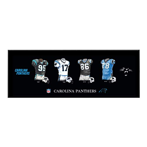 Winning Streak Sports NFL Carolina Panthers Legacy Uniform Collection Plaque - Wall Decor for Sports Fans