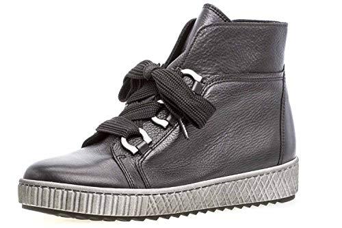 Gabor 93.760.27 Zwart Leer mid-high Sneaker voor Vrouwen (8(UK))