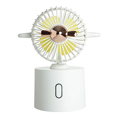 CAREMiLLE Mini Ventilador de Escritorio portátil con Carga USB, 3 configuraciones de Velocidad, Enfriador de Aire para Estudiantes, Mini Ventilador portátil Plegable, Blanco
