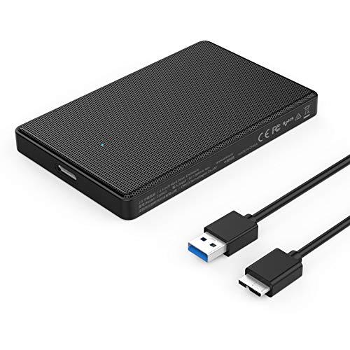 """ORICO Case USB 3.0 per Hard Disk 2,5"""" da SATA SSD/HDD Esterno Custodia in Metallo con Cavo per Disco Rigido 2.5 Pollici, Compatibile con i sistemi Windows e Mac"""