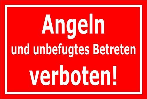 Melis Folienwerkstatt Schild Angeln Betreten verboten 30x20cm - 3mm Hartschaum – 20 VAR S00110-004-D