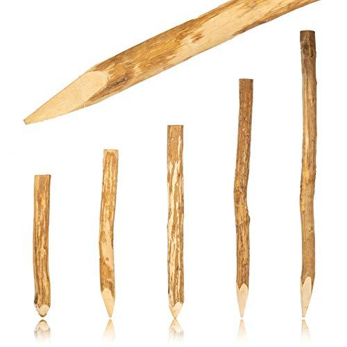 BooGardi Zaun Pfosten Haselnuss 180 cm · Viele Größen · Zaun-Pfahl für Ihren Staketenzaun/Bauernzaun/Kastanienzaun