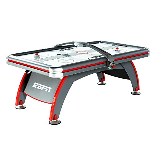 ESPN Sports Air Hockey Game Table: 84 Inch Indoor Arcade Gaming Set with Electronic Overhead Score System, Sound Effects, Multi (AWH084_188E)