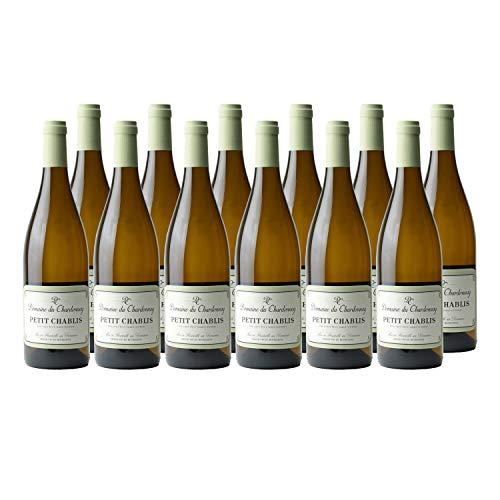 Petit Chablis Sans Sulfites Blanc 2019 - Domaine du Chardonnay - Vin AOC Blanc de Bourgogne - Cépage Chardonnay - Lot de 12x75cl