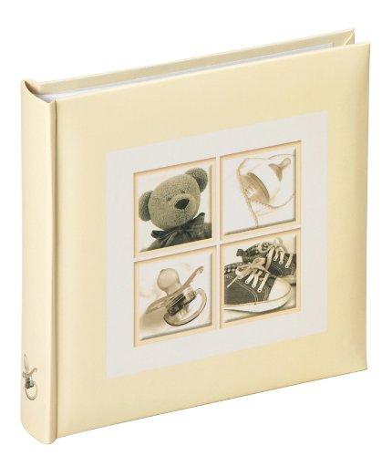 Walther ME-174 Insteek-Babyalbum Dinky Bear met etiketten voor 60 foto's 10 x 15 cm crème