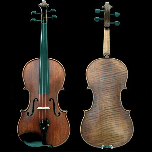 Sky Guarantee Mastero Sound Copy of Stradivarius 4/4 Size Professional Hand-made 4/4 Full Size Acoustic Violin Antique Style Ebony Parts