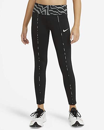 Nike Mädchen One Tights, Black/Coconut Milk/Coconut Milk, M