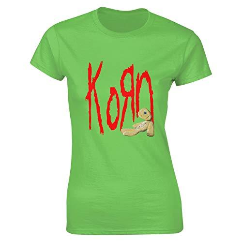 Damen Korn Logo Bekleidung T-Shirt Kurzarm Mint Green L Tee T Shirt Rundhalsausschnitt Sommer Tshirt Für Frauen