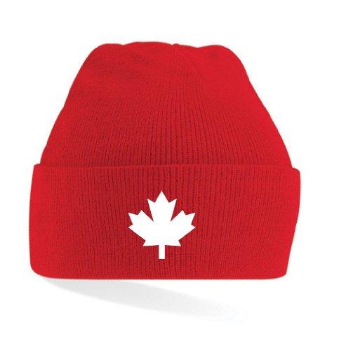 Canada/Kanada STRICKMÜTZE TOP NEU, rot, einheitsgrösse