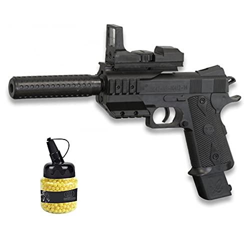 Pìstola Vigor B3 táctica (Muelle) | Pistola de Airsoft (Bolas de plástico 6mm) + biberón de munición