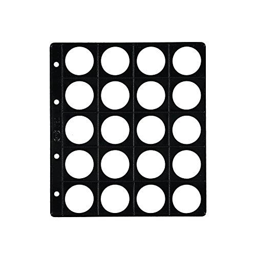 Pardo 75200 - Pack de 25 fundas monedas con base, 20 alojamientos